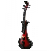 Bridge Aquila Electric Violin in Red / Black with Hard Case & Carbon Fibre Bow