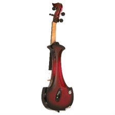 Bridge Aquila 4-String Electric Violin in Red with Hard Case & Carbon Bow