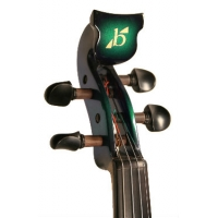 Bridge Aquila Electric Violin in Green / Black with Hard Case & Carbon Fibre Bow