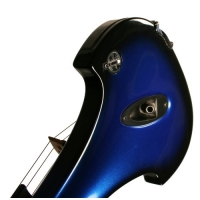 Bridge Aquila Electric Violin in Blue / Black with Hard Case & Carbon Fibre Bow