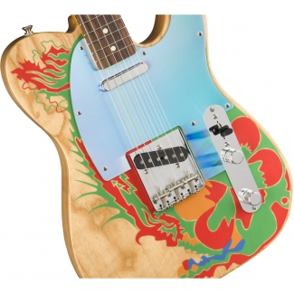 Fender Jimmy Page Telecaster, Natural with Page Art Reproduction