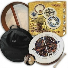 "Waltons 18"" Bodhran Skelling Player's Pack with Cover, Beater & DVD 16057A"