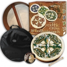 "Waltons 18"" Bodhran Celtic Cross Player's Pack With Cover, Beater & DVD 16057C"