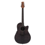Ovation 1771STG-ES Main Stage E Mid-Depth Cutaway Electro In Ebony Stain With Case