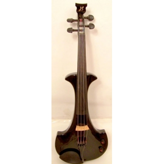 Bridge Aquila Electric Violin in Black with Hard Case & Carbon Fibre Bow