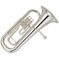Yamaha YEB201S Eb Tuba in Silver Plated With Case & Mouthpiece