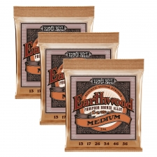 3 Sets of Ernie Ball Earthwood 2144 Phosphor Bronze Acoustic Guitar Strings 13-56