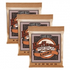 3 Sets of Ernie Ball Earthwood 2148 Phosphor Bronze Acoustic Guitar Strings 11-52