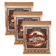 3 Sets of Ernie Ball Earthwood 2150 Phosphor Bronze Acoustic Guitar Strings 10-50