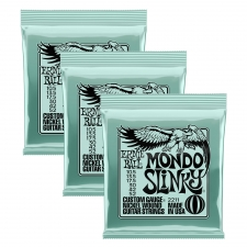 3 Sets of Ernie Ball 2211 Mondo Slinky Nickel Electric Guitar Strings 10-48