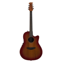 Ovation 2771STR-MB Main Street E Deep Contour Cutaway Electro In Mahogany With Case