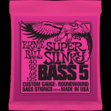 2 Sets of Ernie Ball 2824 Super Slinky 5-String Bass Strings 40-125
