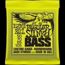 2 Sets of Ernie Ball 2832 Regular Slinky Electric Bass Guitar Strings 50-105