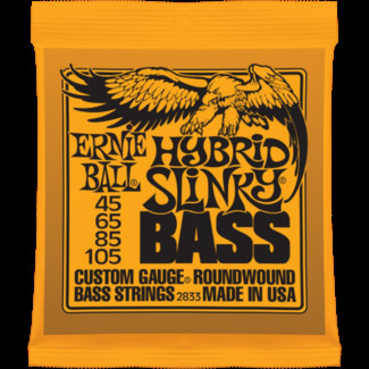 2 sets of ernie ball 2833 hybrid slinky electric bass strings 45 105 at promenade music. Black Bedroom Furniture Sets. Home Design Ideas