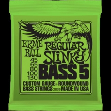 2 Sets of Ernie Ball 2836 Regular Slinky 5-String Bass Strings 45-130