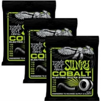 3 Sets of Ernie Ball 2721 Regular Cobalt Electric Guitar Strings 10-46