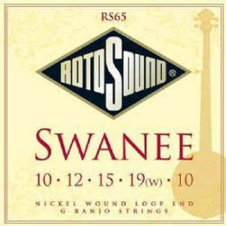 Rotosound 3 Sets Of RS65 Swanee 5 String G Banjo Strings
