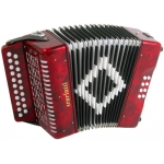 Scarlatti Marino B/C 2-Row Chromatic Melodeon in Red with Strap & Case (GR42003)