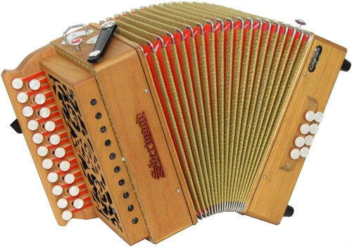 Sherwood Shire III D/G Melodeon with Cagnoni Reeds & Bag (GR42057)