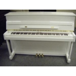 Irmler Studio P108E Upright Piano in White Polyester