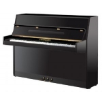 Steinmayer S108 Upright Piano in Black Polyester, Secondhand