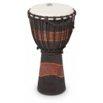 Toca Street Series Rope Tuned Wood Djembe, Small, Black