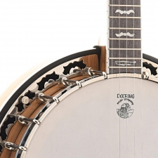 Deering White Lotus 5-String Banjo, White Oak