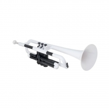 PTrumpet Plastic Trumpet in White with Bag