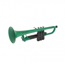 PTrumpet Plastic Trumpet in Green with Bag