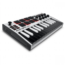 Akai MPK Mini 3 - Compact Keyboard and Pad Controller - WHITE