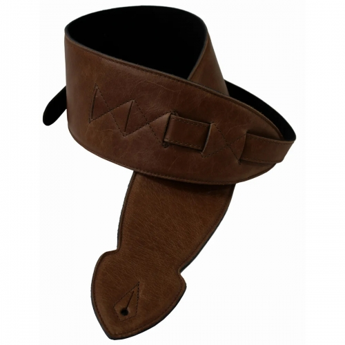 """Levin 2.5"""" Flexi Soft Leather Guitar Strap in Brown (LS-G-FSL-250-BROWN)"""
