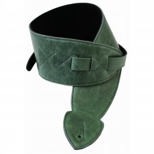 """Levin 2.5"""" Flexi Soft Leather Guitar Strap in Green (LS-G-FSL-250-GREEN)"""