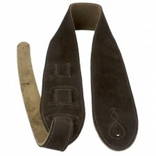 """Levin 2.75"""" Flexi Soft Suede Guitar Strap in Brown (LS-G-S-275-BROWN)"""