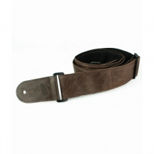 """Levin 2"""" Adjustable Leather Guitar Strap in Brown (LS-G-L-A-200-BROWN)"""