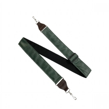 """Levin 2"""" Adjustable Leather Banjo Strap in Green (LS-B-L-A-200-GREEN)"""