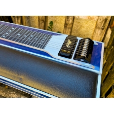 GFI S10PU Ultra Single Neck Pedal Steel Guitar in Blue Mica with Pad & Hardcase