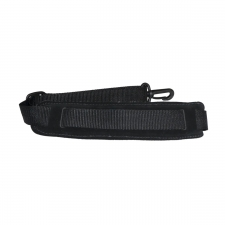 """Levin 1"""" Webbing Strap for Saxophone with Suede, Sponge and Fleece Neck Pad in Black (LS-S-W-100-BLACK)"""