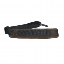 """Levin 1"""" Webbing Strap for Saxophone with Suede, Sponge and Fleece Neck Pad in Brown (LS-S-W-100-BROWN)"""