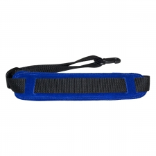 """Levin 1"""" Webbing Strap for Saxophone with Suede, Sponge and Fleece Neck Pad in Blue (LS-S-W-100-BLUE)"""