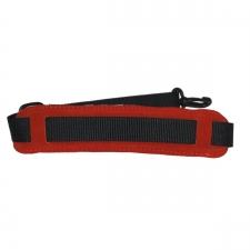 """Levin 1"""" Webbing Strap for Saxophone with Suede, Sponge and Fleece Neck Pad in Red (LS-S-W-100-RED)"""