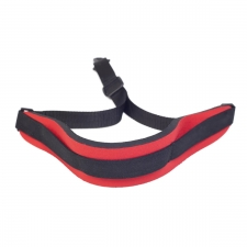 """Levin 1"""" Webbing Strap for Saxophone with Neoprene Neck Pad in Red (LS-S-W-NEO-100-RED)"""