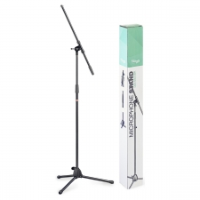 Stagg MIS0822BK Microphone Boom Stand with Folding Legs, Black