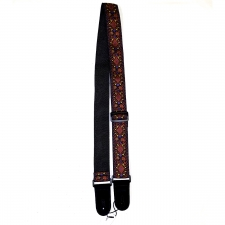 """Levin 2"""" Textured Fabric Guitar Strap Fluer Red & Red (LS-G-TF-200-FLUER-RED-RED)"""