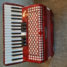 Chanson 96 Bass Accordion, Red Pearloid, Secondhand