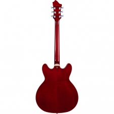 Hagstrom Tremar Viking Deluxe Electric Guitar in Wild Cherry Transparent