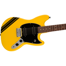 Squier FSR Bullet Competition Mustang HH, Graffiti Yellow with Black Stripes