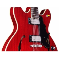 Guild Starfire IV ST-12 12 String Electric Guitar, Cherry Red