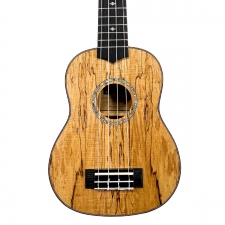 Levin LU50S Soprano Spalted Maple Ukulele in Natural Satin with 10mm Gig Bag