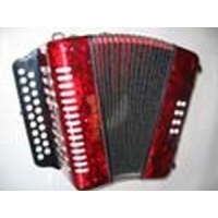 Stephanelli 2 Row Melodeon B/C in Red