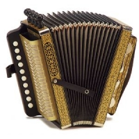 Hohner Vienna 1 Row 4 Stop Diatonic Accordion / Melodeon